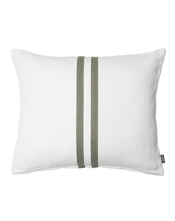 Simpatico Cushion White/Khaki 50x60