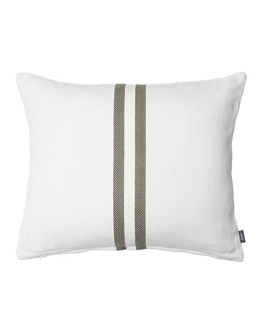 Sympatico Cushion White/Khaki 50x60