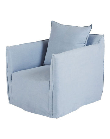 Montauk Slipcover Chair - Sky Blue