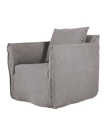 Montauk Slipcover Chair - Stone