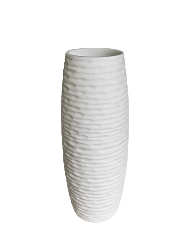 Crocodile Vase White