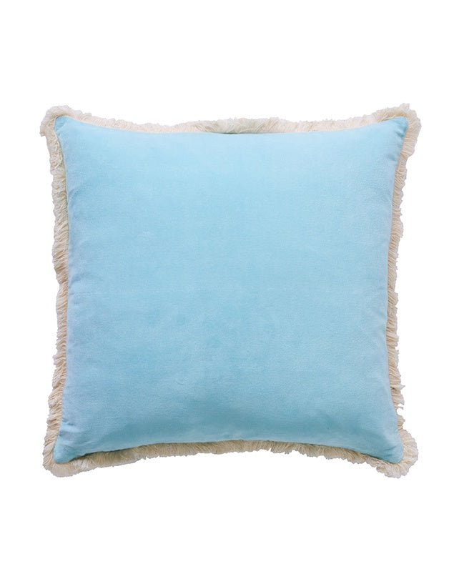 Avalon Fringe Cushion Sky 50x50