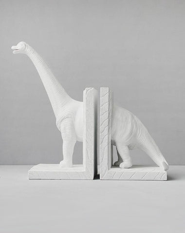 Diplodocus Bookend Set - White