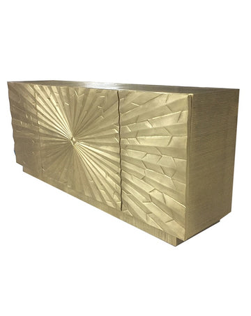 Palladio Media Cabinet (Brass)