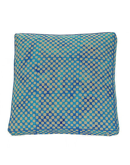 Turquoise Check Cushion