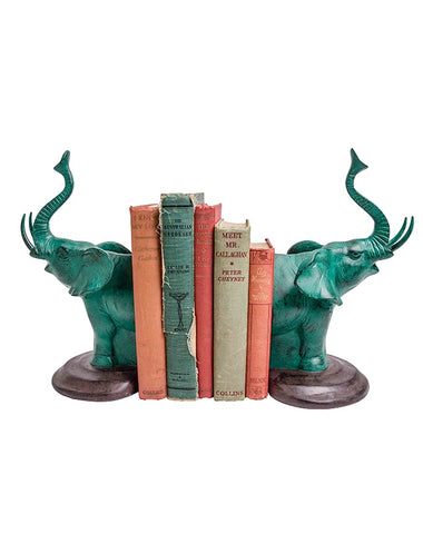 Arch Elephante Bookends - Emerald