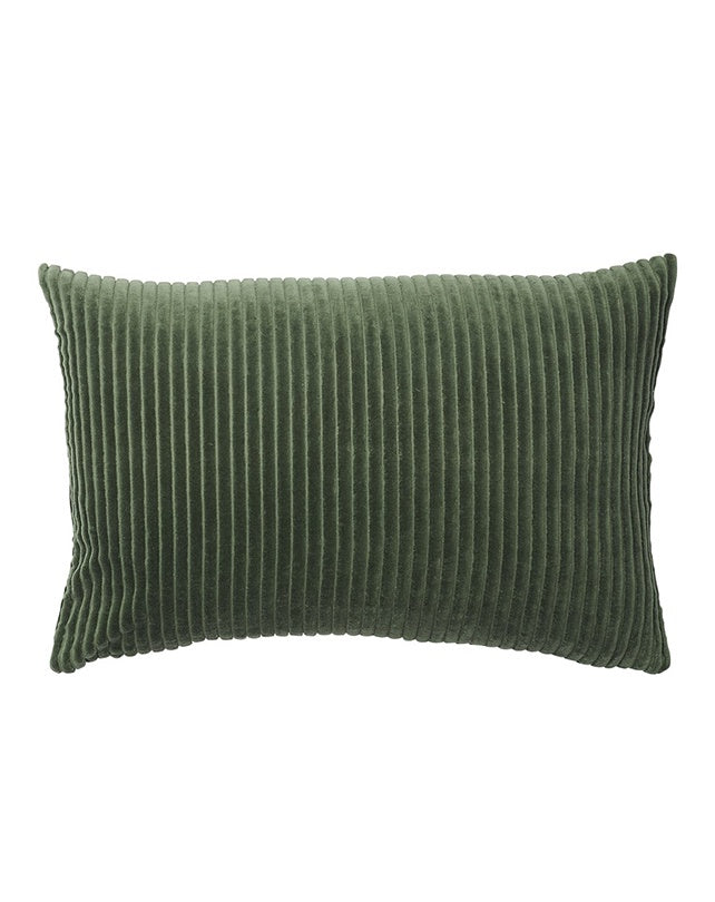 Geant Ribbed Velvet Cushion Khaki 40x60