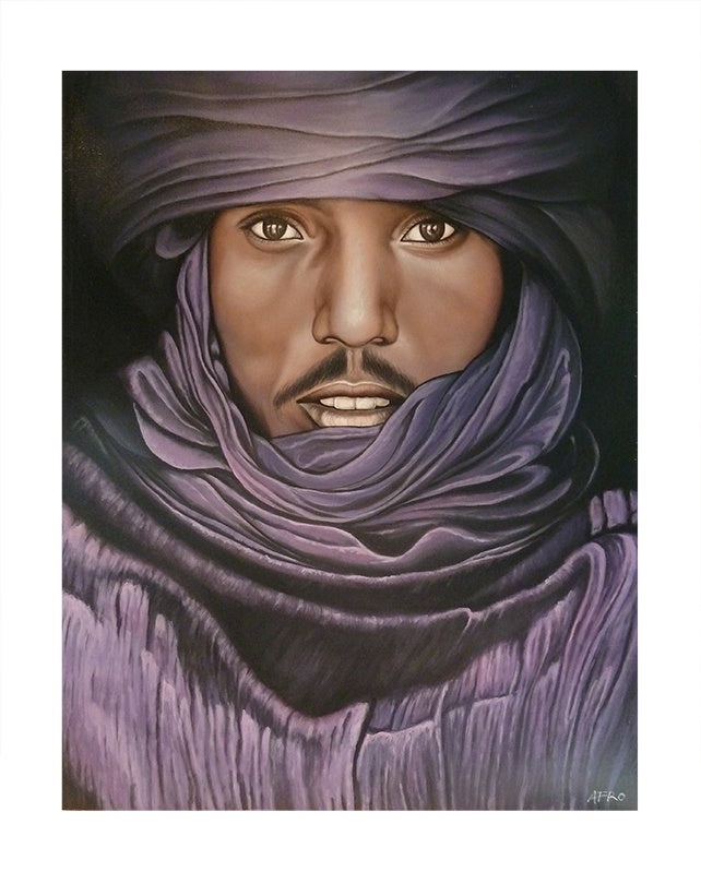 Tuareg Man With Purple Scarf
