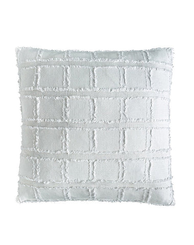 Bedu Linen Fringed Cushion White 50x50