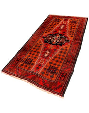 Balouch Red Medallion Rug 215x106cm
