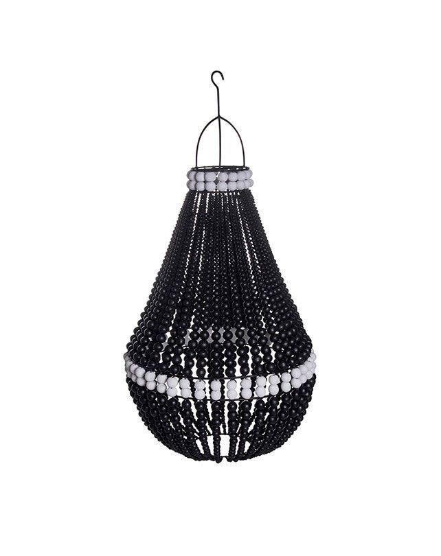 Tenda Wooden Bead Lamp Shade (Black)