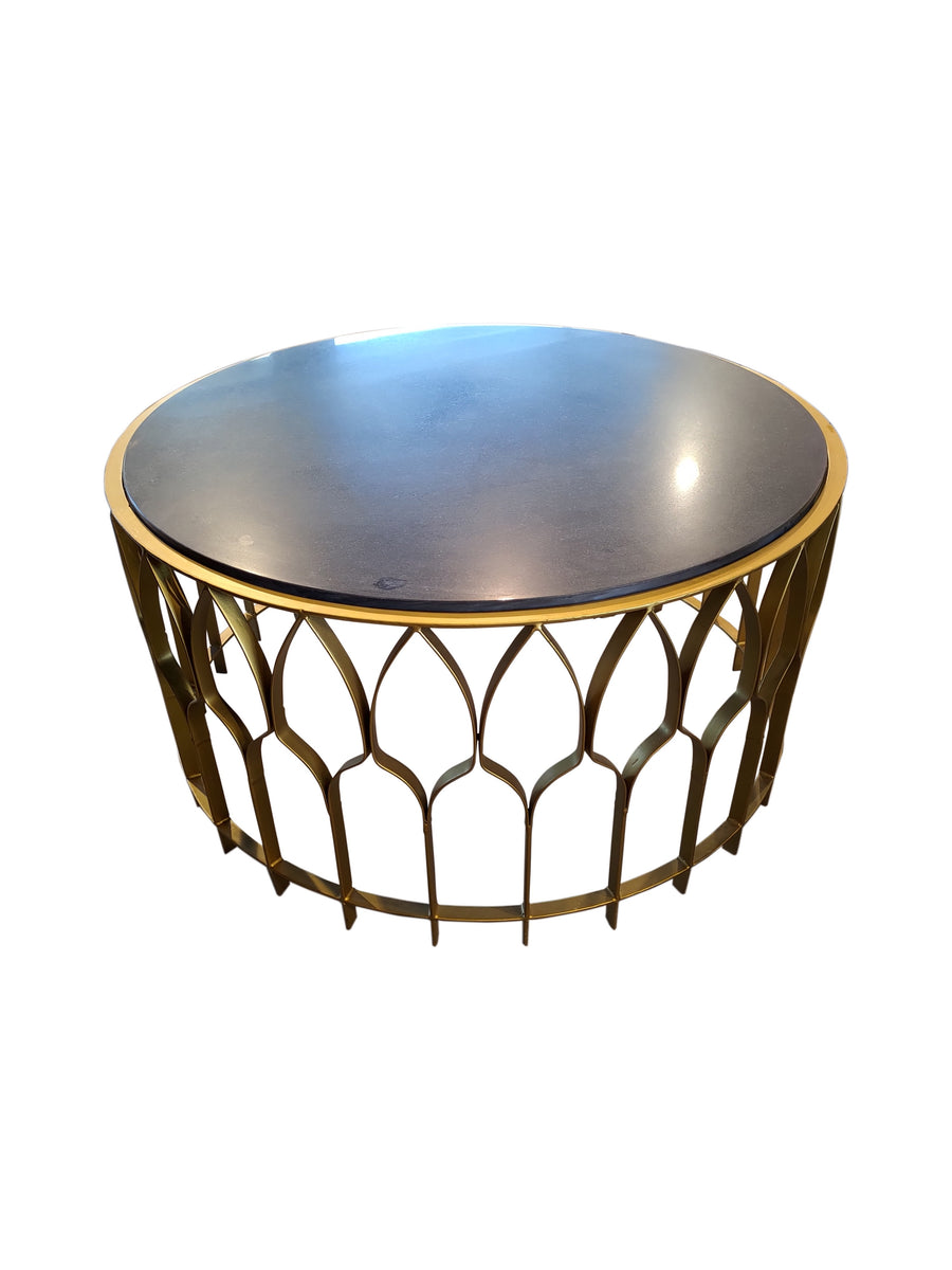 Almaty Coffee Table Brass/Black