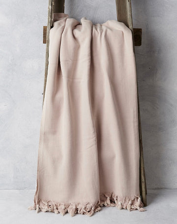 Vintage Wash Blanket - Blush
