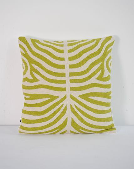 Zebra Lime cushion