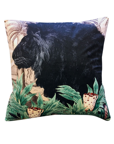 Velvet Cushion Little Lion 50x50