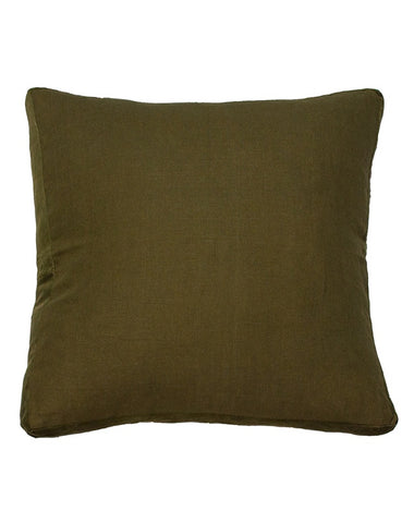 Essential Guerrilla Linen Velvet Gusset Cushion 60x60