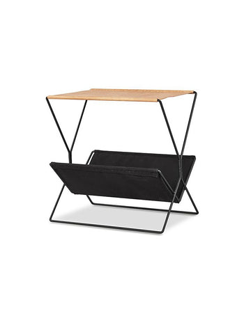 Bookworm Magazine Rack (Tan/Black)