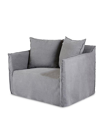 Montauk Slipcover Loveseat - Ash Grey