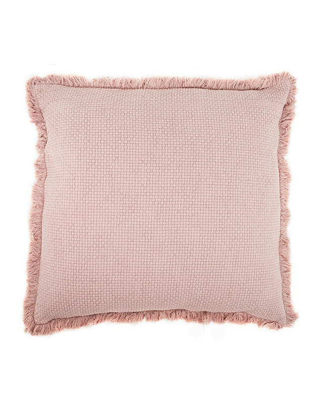 Chelsea Cushion with Fringe Musk 50x50