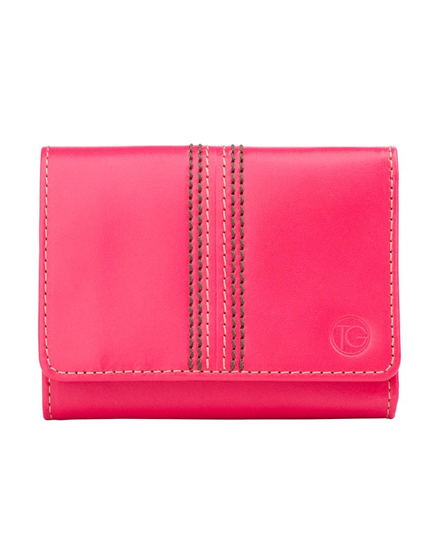 "Trifold Note & Coin Wallet ""The Keeper"" (Pink)"