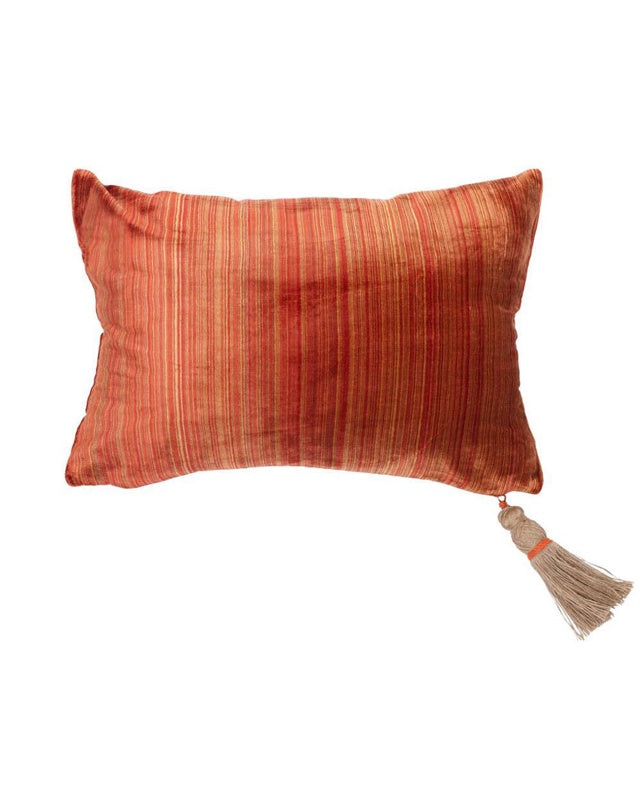 Sand Dance Velvet Cushion 40x60 Tobacco