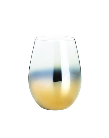 Gold Wine Glass Tumbler - Set of 4