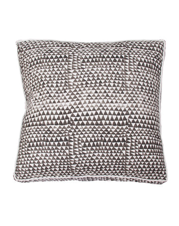 Charcoal Handpaint Graphic Gusset Cushion 55x55