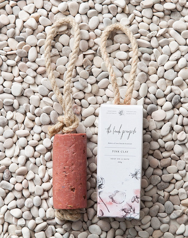 Pink Clay Soap on a Rope