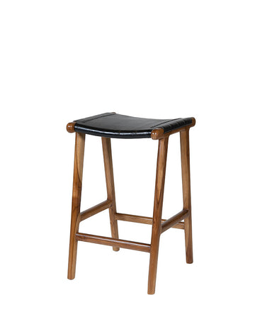 Casa Leather Counter Stool