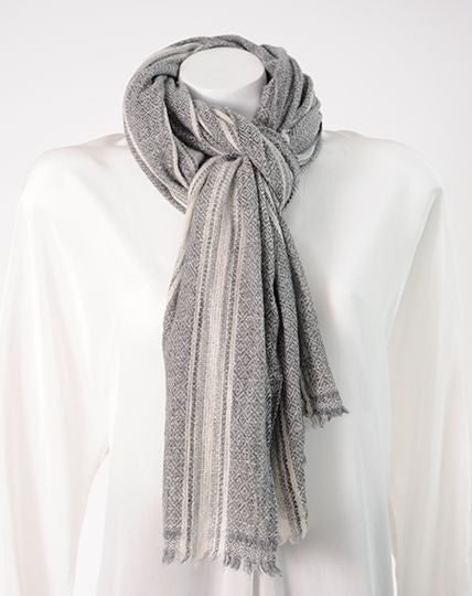 Wool & Cashmere scarf (striped)