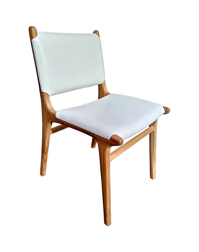 Maya Plush Dining Chair (White)