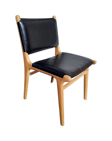 Maya Plush Dining Chair (Black)