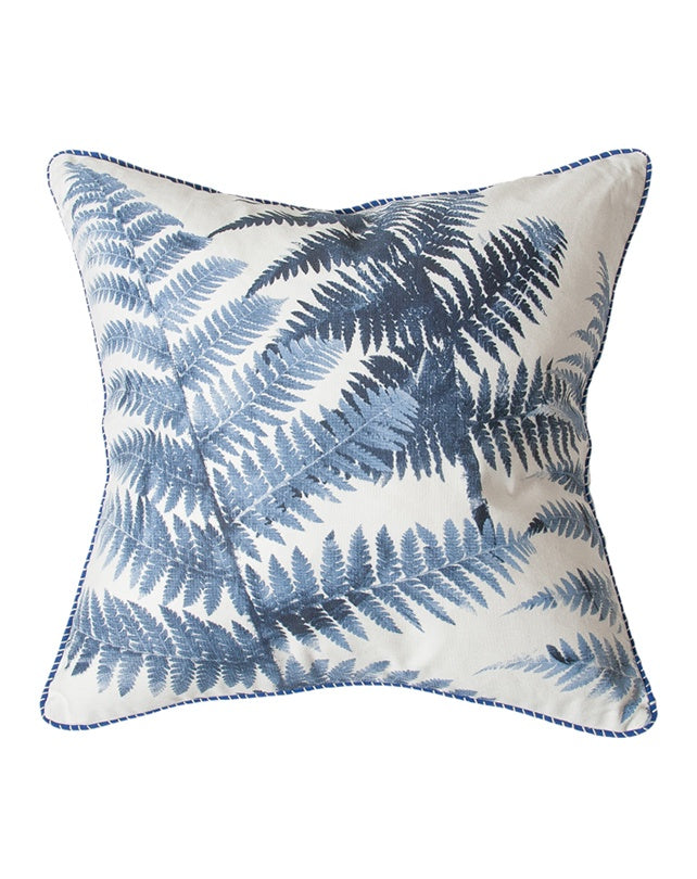 Blue Tree Fern Cushion 55x55