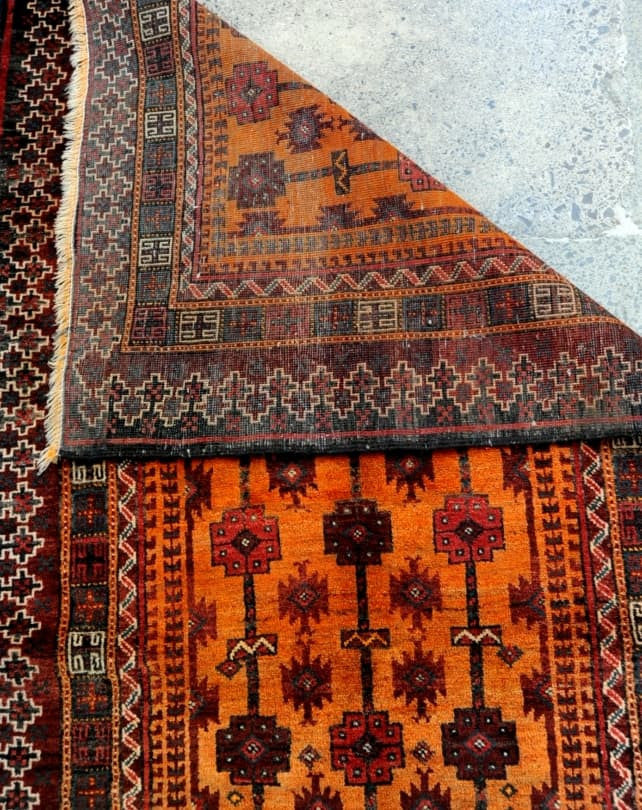 Zabol Burnt Orange Rug 213x100cm
