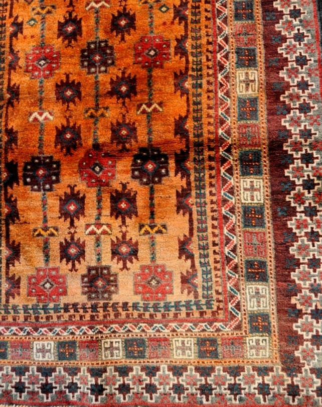 Zabol Burnt Orange Rug #851