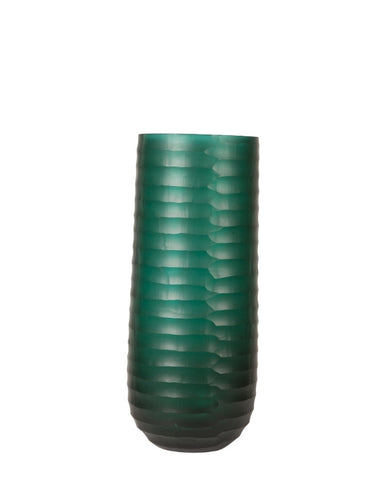Horizontal Cut Emerald Vase