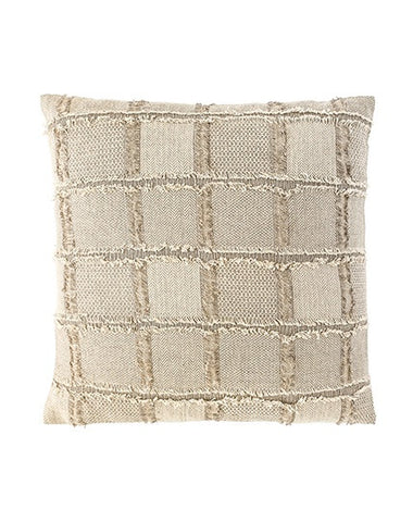 Bedu Linen Fringed Cushion Natural 50x50