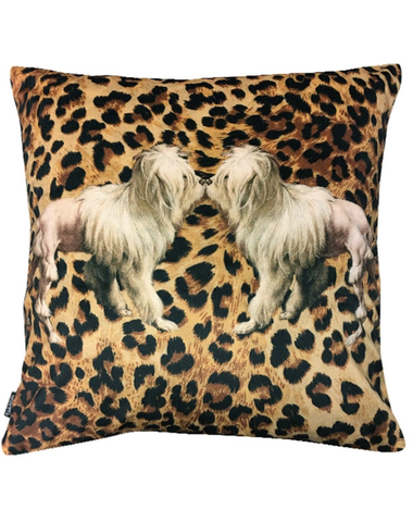 Velvet Cushion Tigerdog 50x50