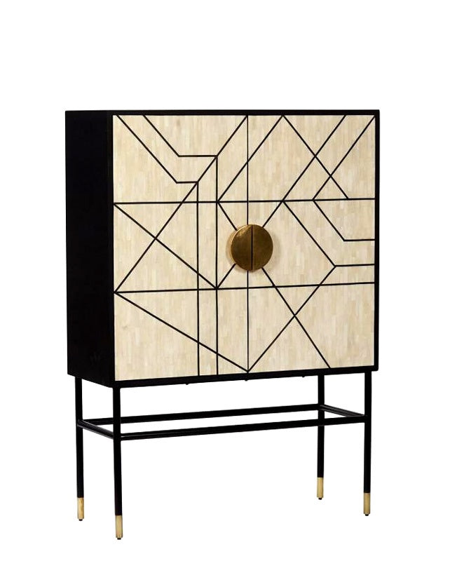 Abstract Bar Cabinet