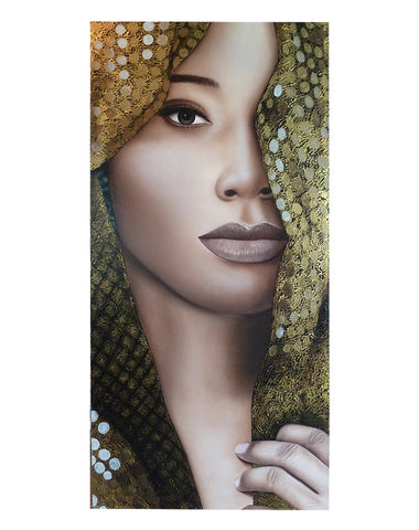 African Lady with Gold Lace