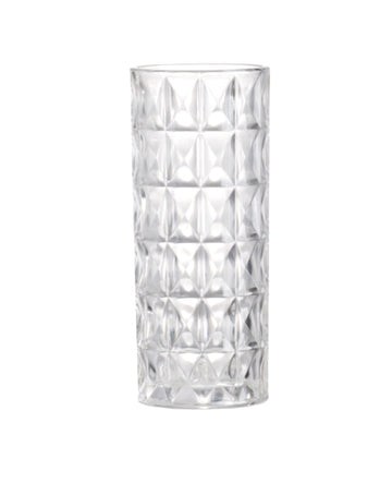 Emerald Cut Glass Vase 35cm