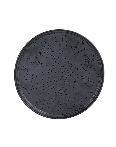 Merchant Large Round Plate - Charcoal