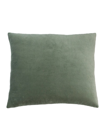 Essential Grey Celadon Velvet Cushion 50x55