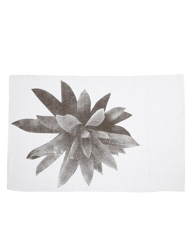 Bromeliad Grey Linen Pillowcases - Pair