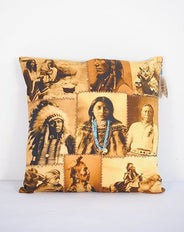 Native American Montage cushion - with Turquoise Beads