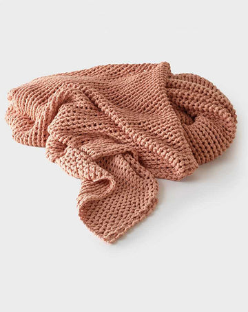 Abrazo Knitted Throw Rose Dust 220x140