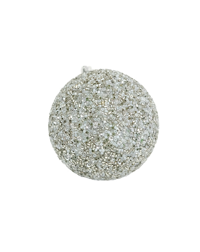 Beaded Bauble Silver/Grey