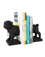 Black Pug Bookends 2 Set