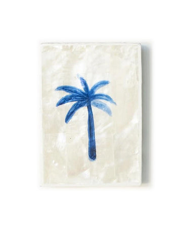 Blue Palm Shell Mini Tile