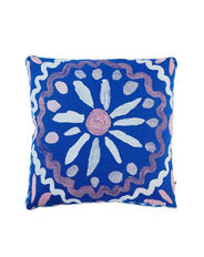 Heirloom Blue Linen Cushion 50x50